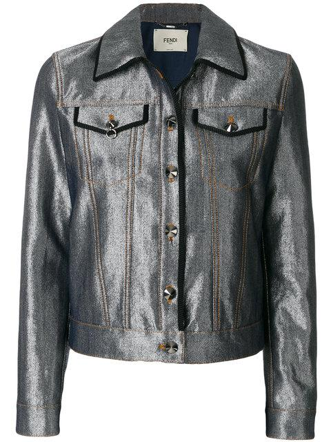 Fendi Karlito Denim Jacket - Farfetch In Grey