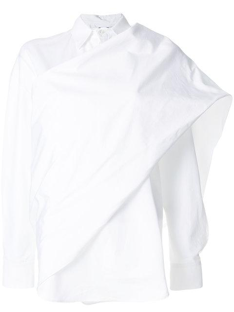 Chalayan Twisted Sash Shirt - White
