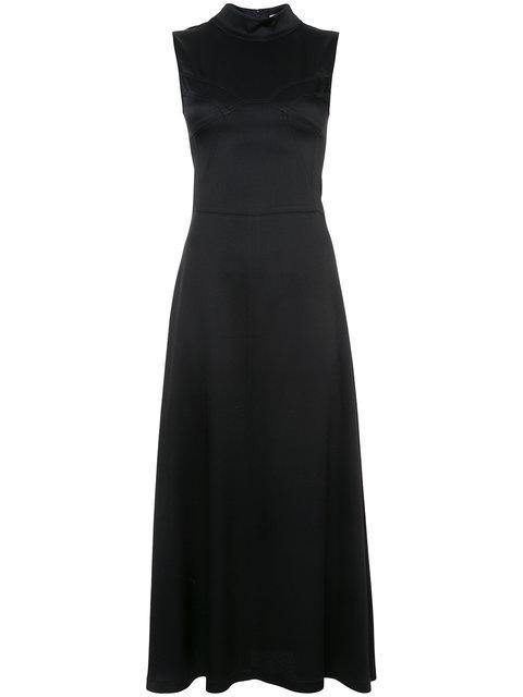 Tome High Neck Maxi Dress - Black