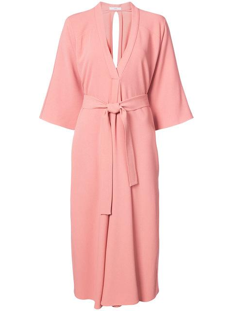 Tome Cutout Crepe Midi Dress In Pink