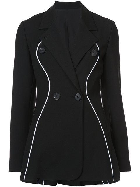 Tome Double-breasted Wool Grain De Poudre Blazer In Black