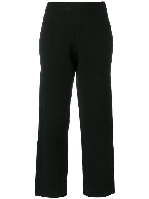 Joseph Cropped Trousers In Black