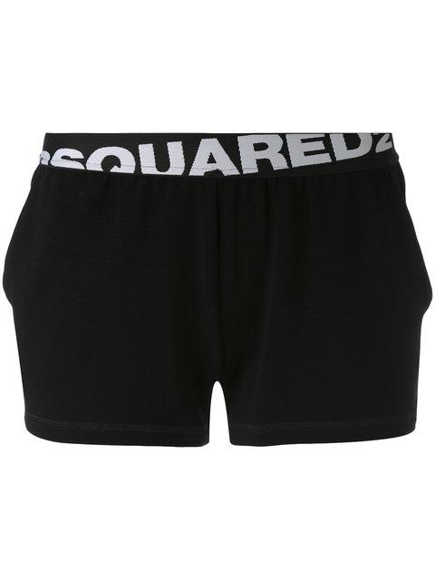 Dsquared2 Logo Band Shorts In Black