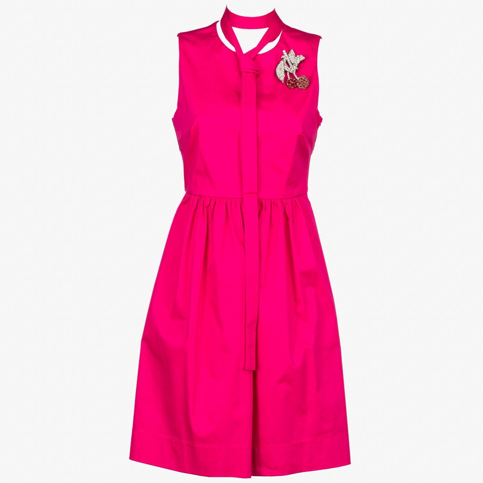 N°21 N°21 Cherries Dress In Fuxia