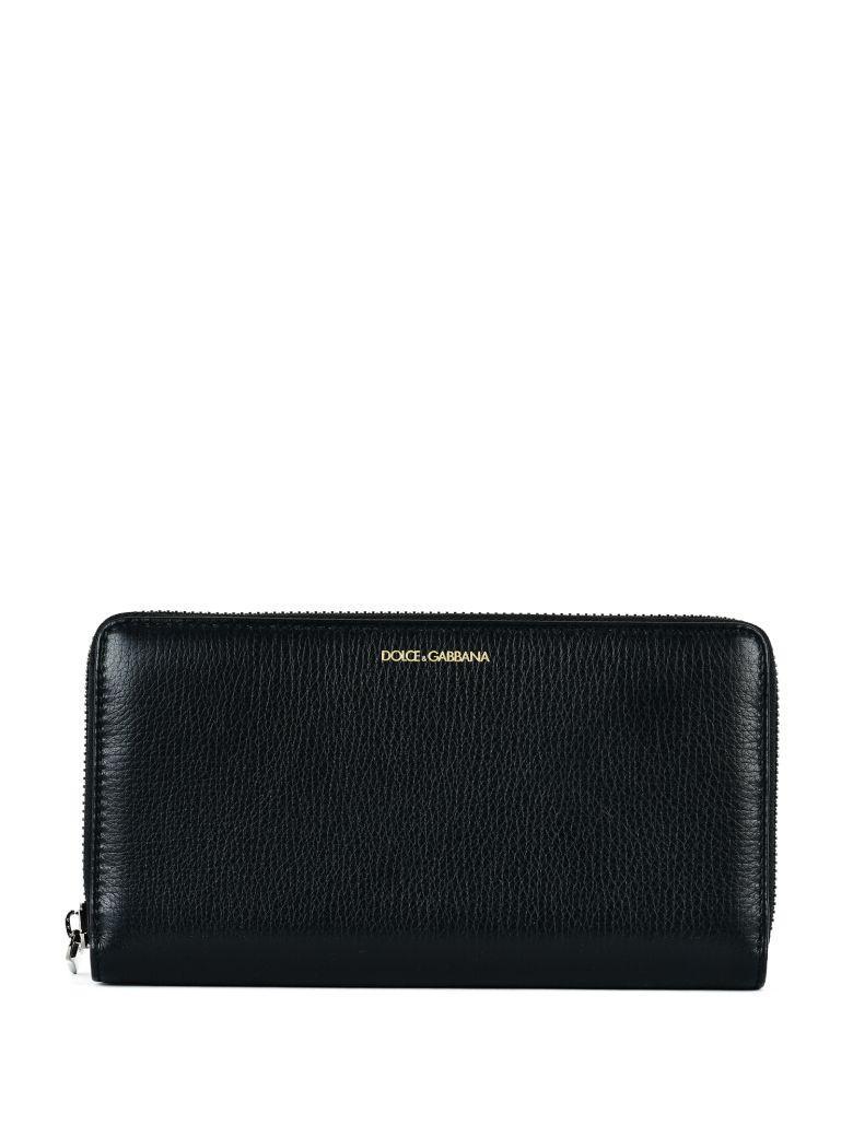 Dolce & Gabbana Textured Wallet In Black