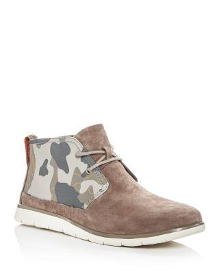 Ugg Men's Freamon Suede & Camo Chukka Boots In Brindle