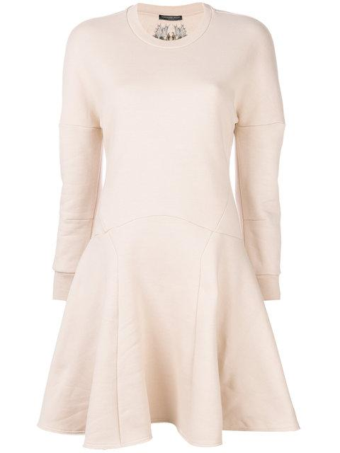 Alexander Mcqueen Skater Style Sweatshirt Dress