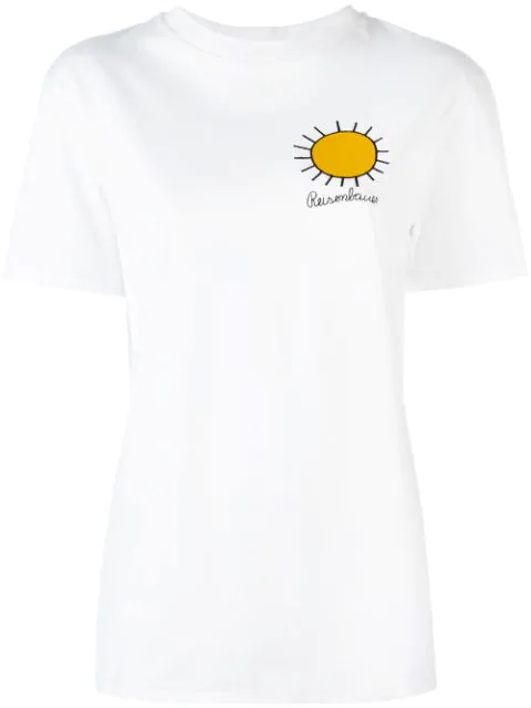 Christopher Kane Woman Embroidered Cotton-jersey T-shirt White