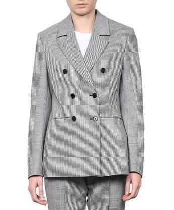 Msgm Patchwork Wool Blazer In Nero