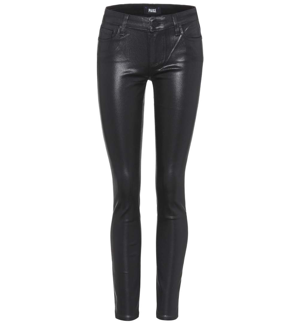 Paige Verdugo Ultra Skinny Coated Jeans In Llack Fog Luxe