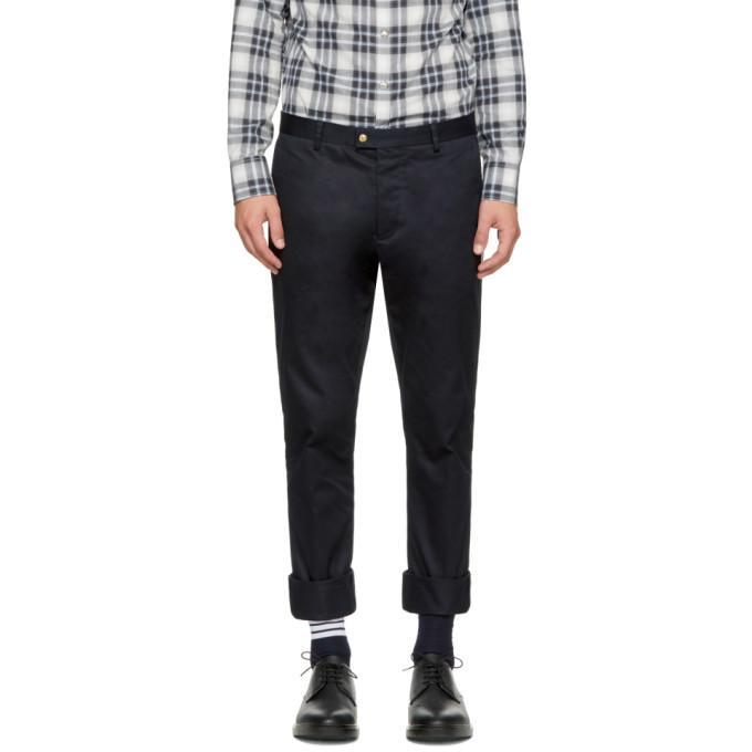 Moncler Gamme Bleu Navy Classic Cotton Trousers