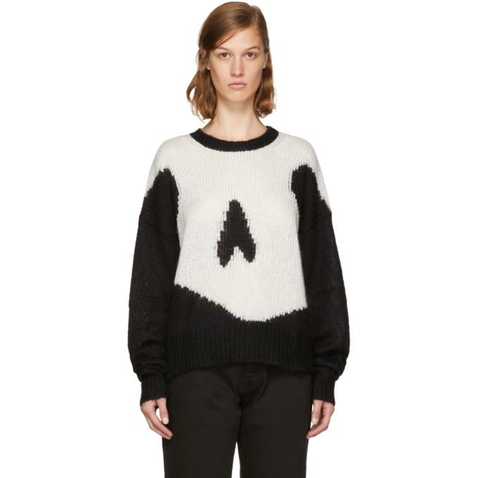 Mcq By Alexander Mcqueen Mcq Alexander Mcqueen Black Giant Swallow Sweater Dress In 1000 Darkest Black