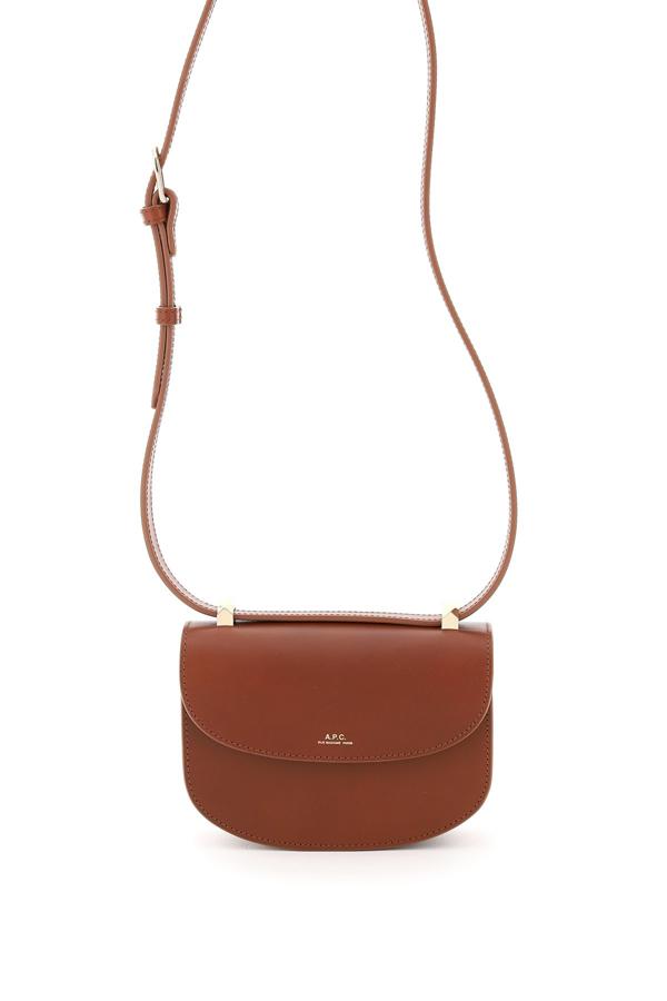 A.p.c. Geneve Mini Crossbody Bag In Noisette (brown)