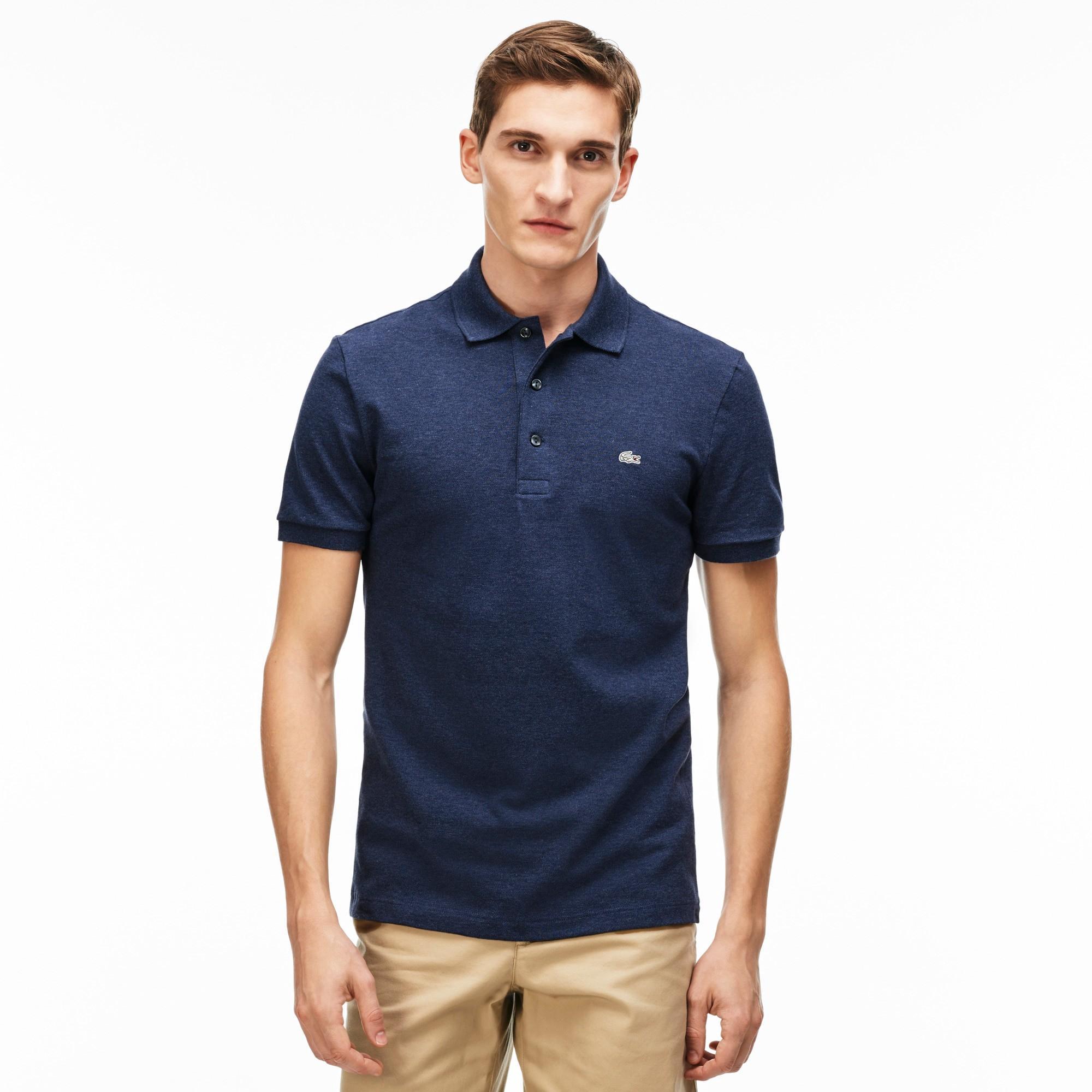Men's Slim Fit Stretch Piqué Polo Shirt - Philippines Blue Chine