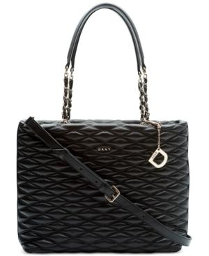 Dkny Lara Large Tote, Created For Macy's In Black
