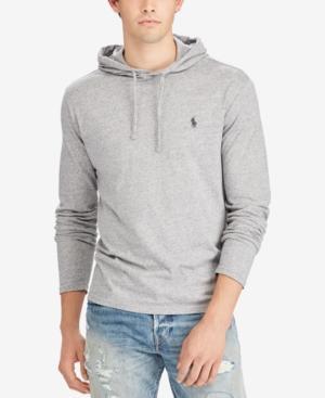 Polo Ralph Lauren Men's Jersey T-shirt Hoodie In Dark Vintage Heather