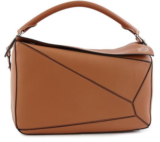 Loewe Puzzle Bag In Tan