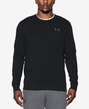 Under Armour Men's Rival Crew Neck Sweatshirt In Black
