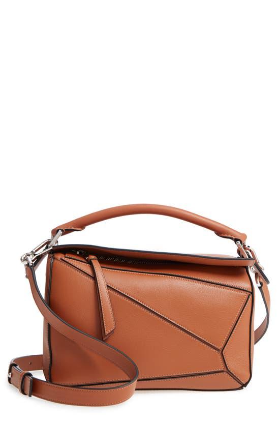 Loewe Puzzle Small Shoulder Bag In Brown