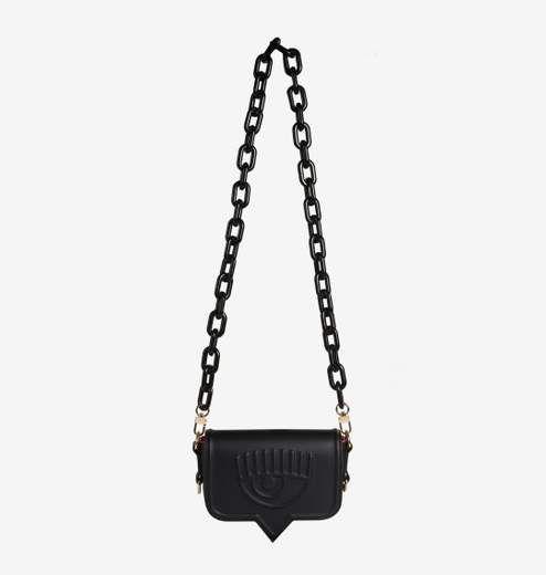 "Chiara Ferragni Exchange ""eyelike"" Big Synthetic Fabric In Black"