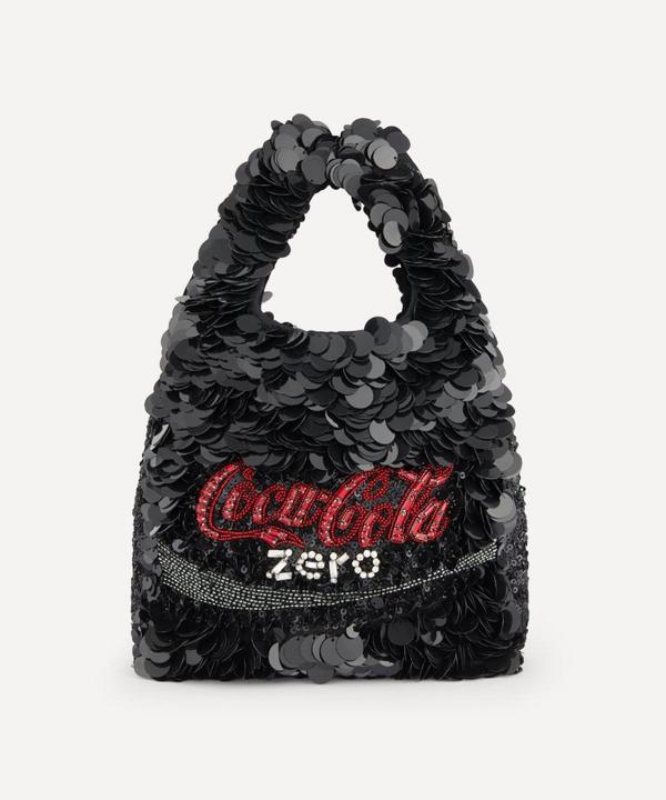 Anya Hindmarch Anya Brands Coke Zero Sequin Tote Bag In Black