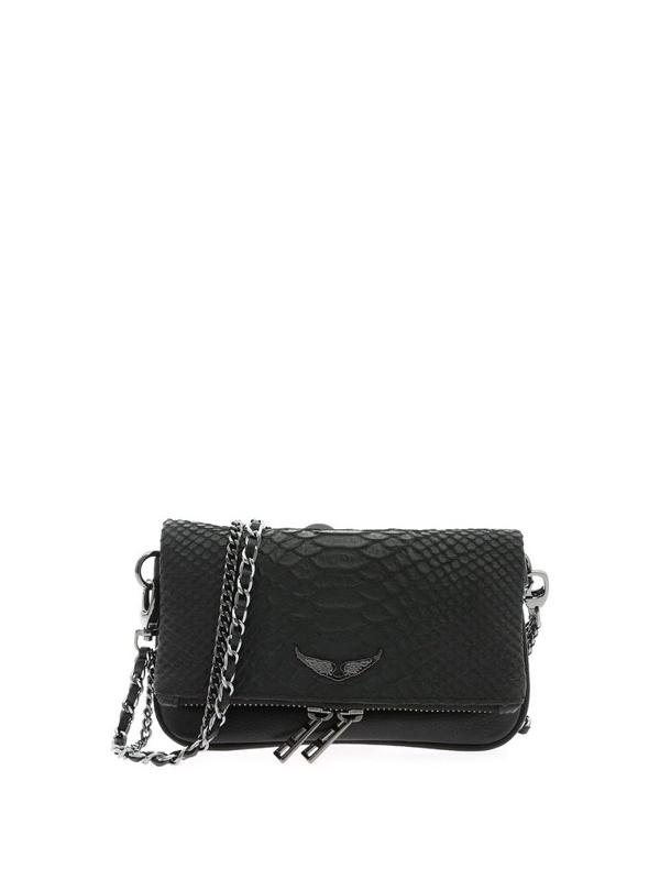 Zadig & Voltaire Rock Nano Savage Clutch Bag In Black