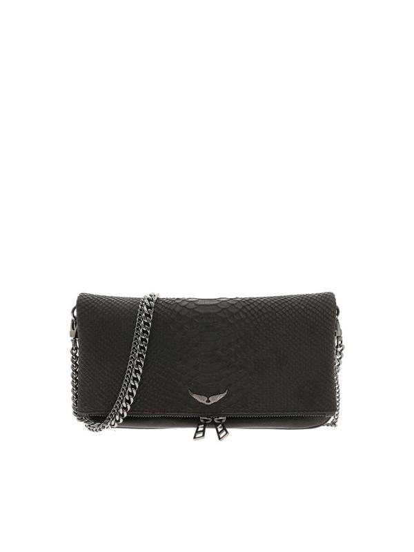 Zadig & Voltaire Rock Savage Clutch Bag In Black
