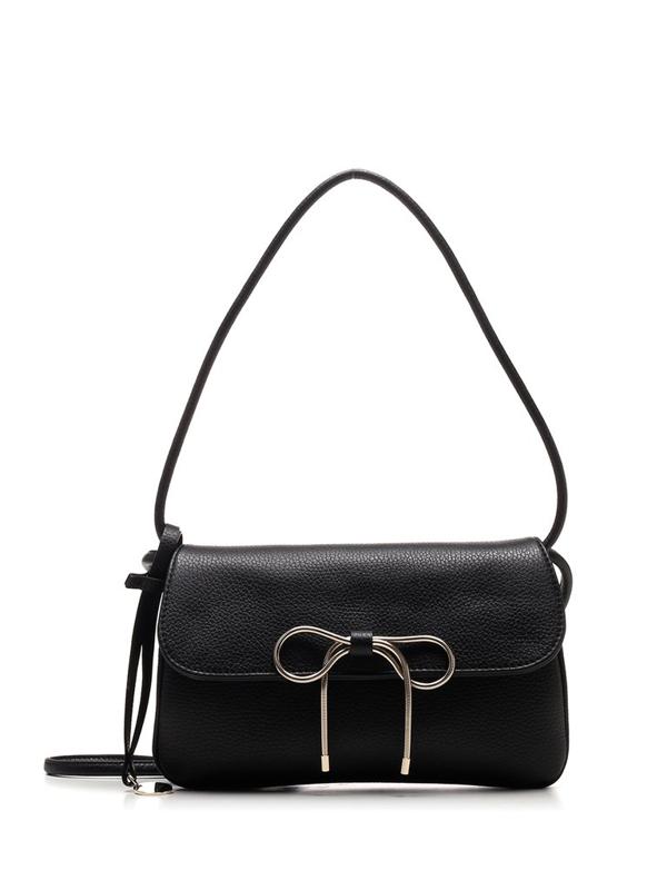 Red Valentino Redvalentino Bow Detail Shoulder Bag In Black
