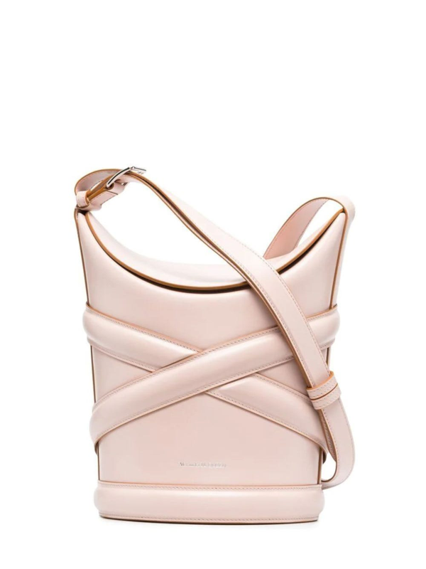 Alexander Mcqueen Pink Leather Small Bucket Bag