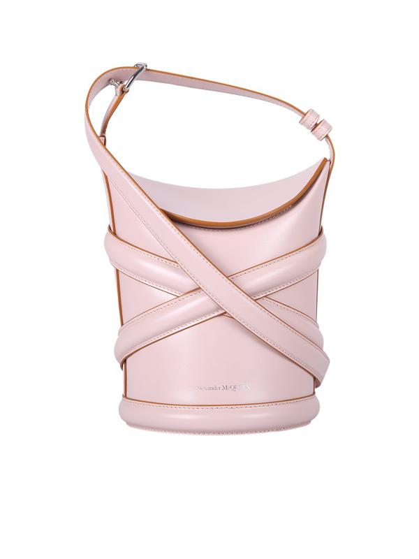 Alexander Mcqueen The Curve Bucket Bag In Pink