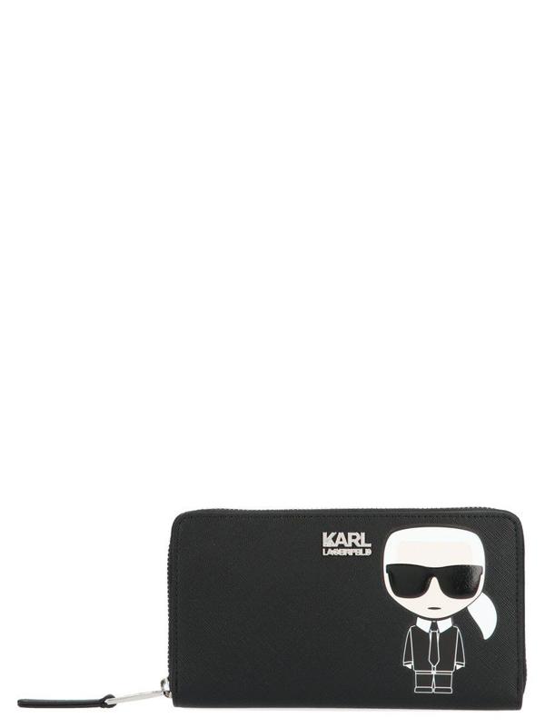Karl Lagerfeld Women's Black Polyurethane Wallet