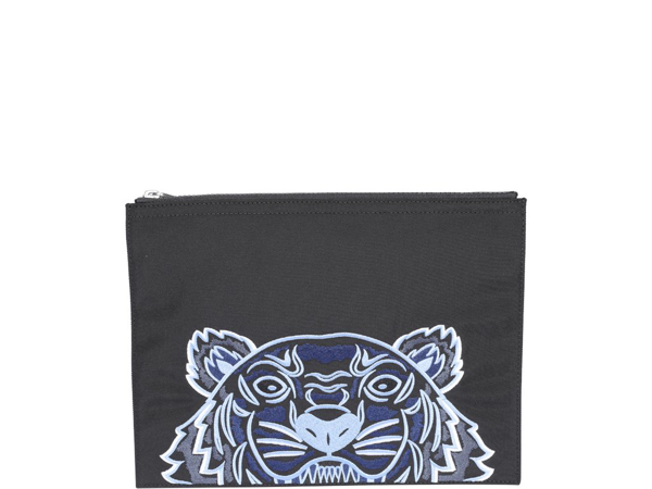 Kenzo Kampus Tiger Large Pouch In Black
