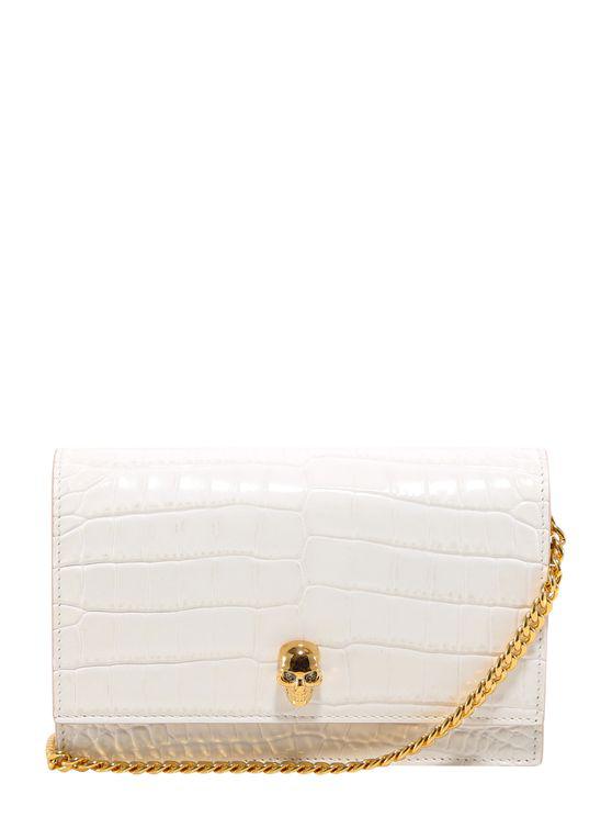 Alexander Mcqueen Leather Shoulder Bag In White