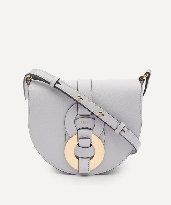 Chloé Darryl Leather Cross-body Bag In Light Cloud