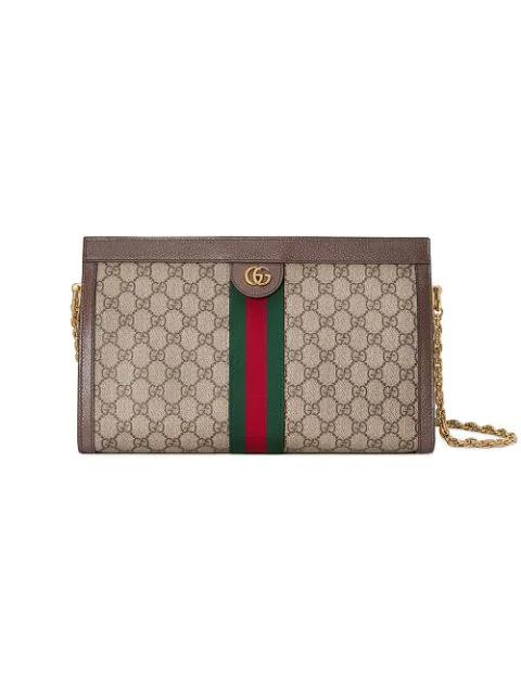 Gucci Ophidia Gg Medium Shoulder Bag In Black