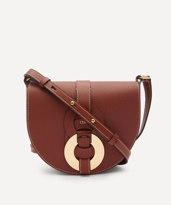 Chloé Darryl Leather Cross-body Bag In Sepia Brown