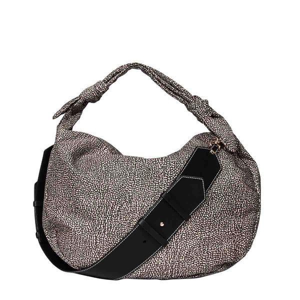 Borbonese Women's 933377i15x11 Brown Polyester Shoulder Bag