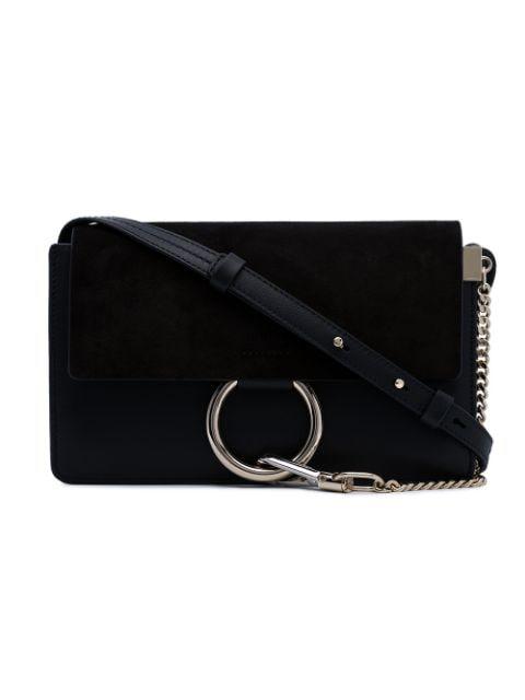 Chloé Small Faye Shoulder Bag In Black