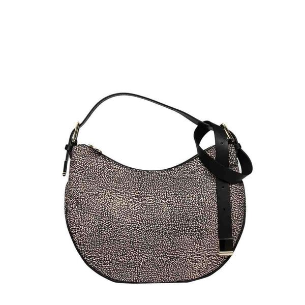 Borbonese Women's Brown Polyester Shoulder Bag