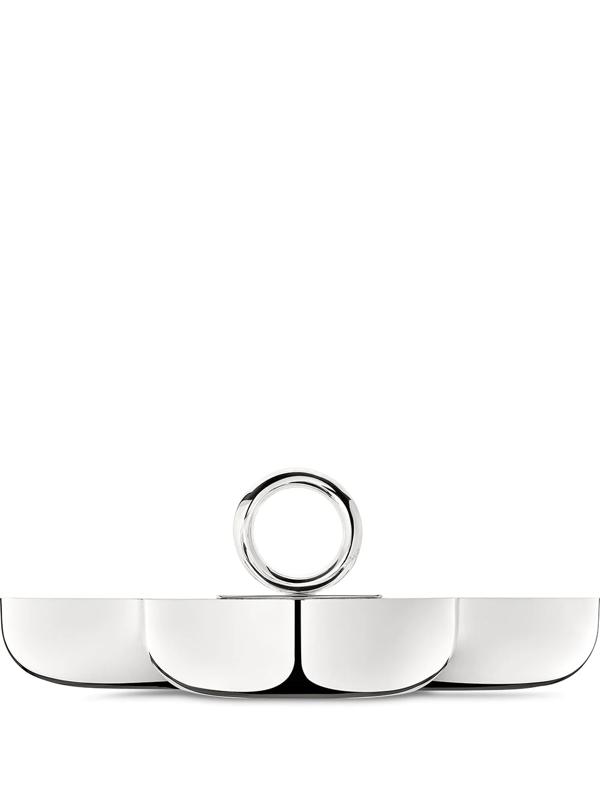 Christofle Vertigo Large Three-part Silver-plated Server