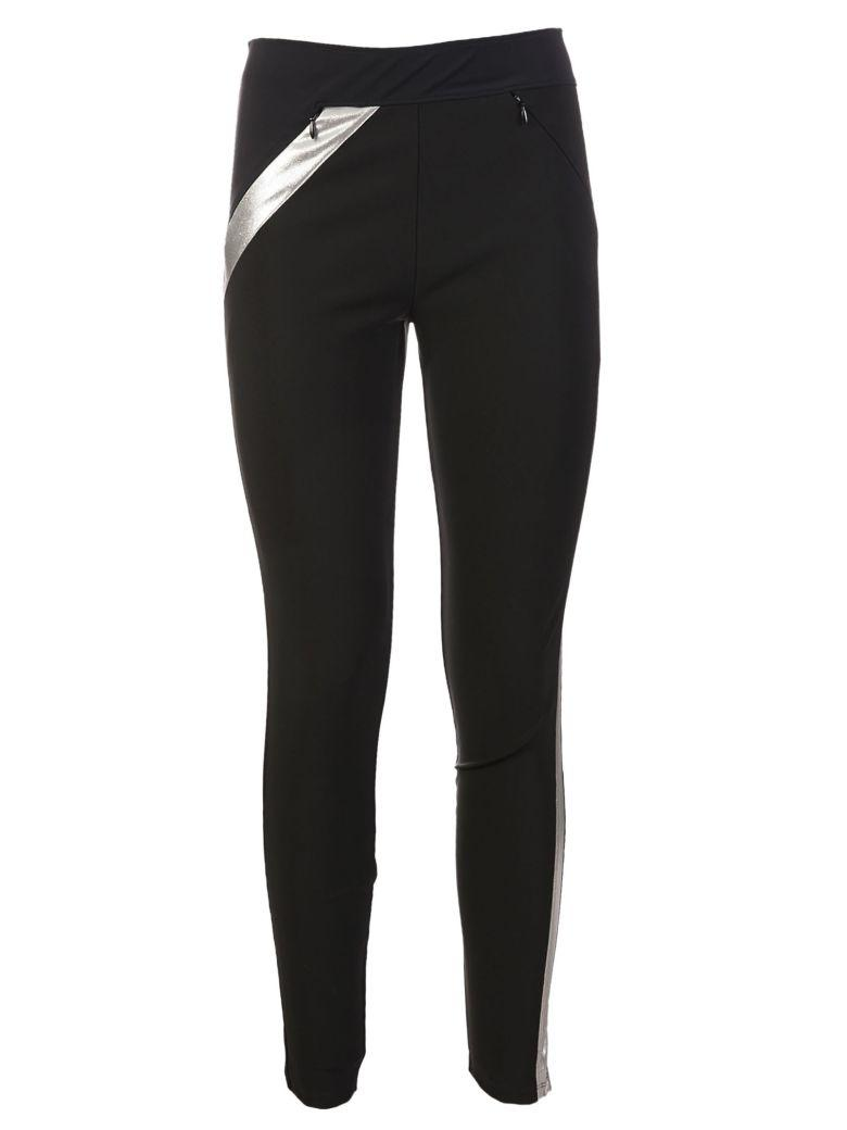 Paco Rabanne Slim Fit Trousers In Black-silver