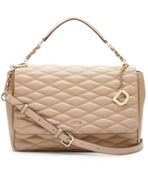Dkny Lara Small Flap Shoulder Bag, Created For Macy's In Buff