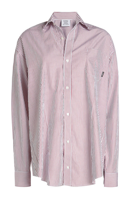 Vetements Striped Cotton Shirt In Stripes