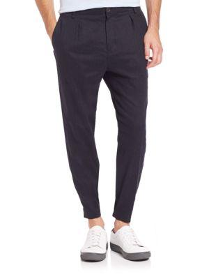 Vince Urban Slim-fit Jogger Chino Pants In Black