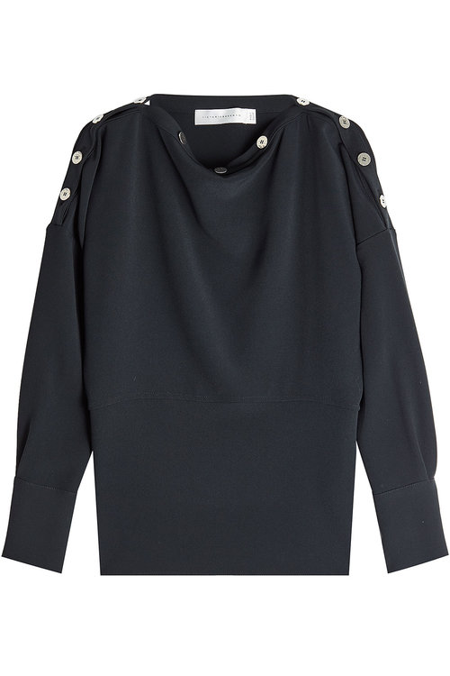 Victoria Beckham Top With Buttons In Black
