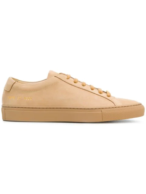 Common Projects Original Achilles Low-top Nubuck Trainers In Tan