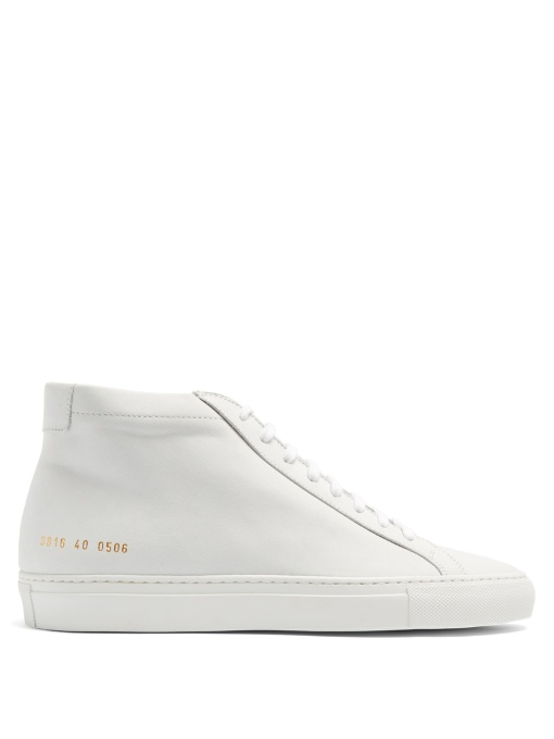 Common Projects Original Achilles Mid-top Nubuck Trainers In White