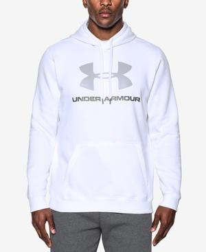 Under Armour Men's Rival Fleece Logo Hoodie In White