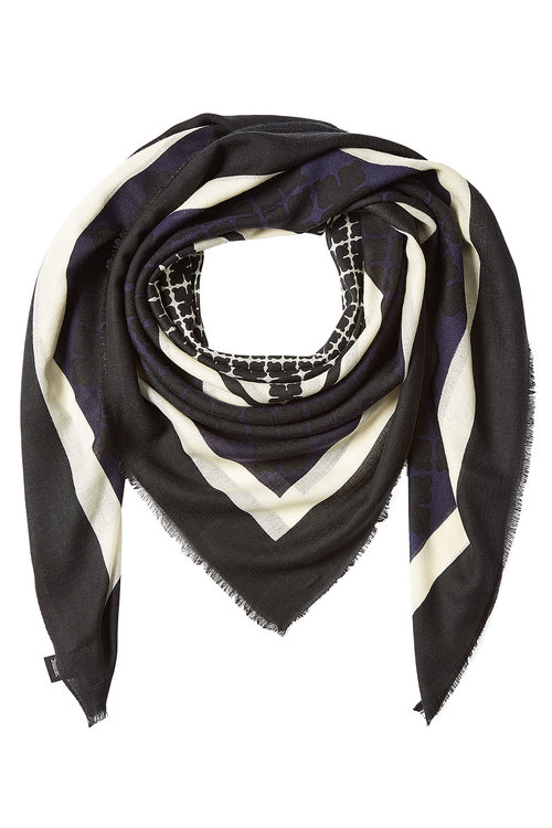 By Malene Birger Printed Wool Scarf In Multicolored