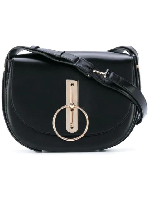 Nina Ricci Leather Shoulder Bag In Black